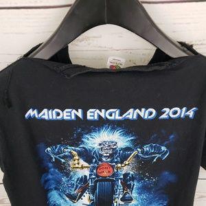 Fruit of the Loom Shirts - Iron Maiden 2014 England Tour Merch tshirt